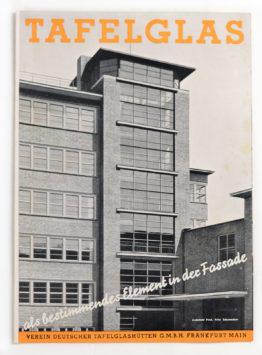 Tafelglas depliant anni '30